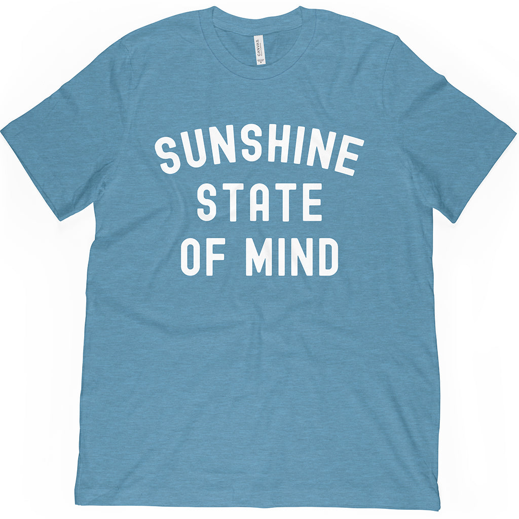 Shop this Florida Tee! Sunshine State of Mind for all people who live with good vibes under the Florida sun.