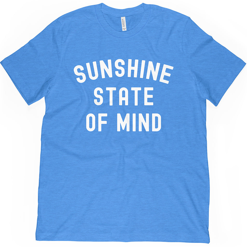 Blue State of Florida Shirt. Shop our Lifestyle apparel and represent the beach anywhere you go!
