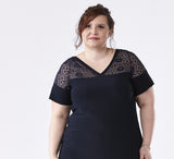 plus size, lace, work, tunic