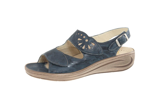 HALLUX BETT TWO STRAP SANDAL WITH CUTOUTS 43-4030