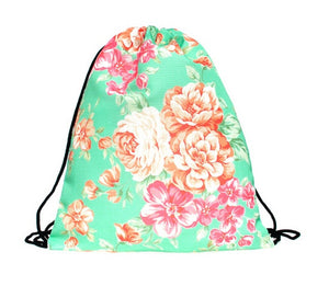 "Gym bag ""Mint Flower"" - Allthatiwant"