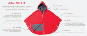 Rain cape - red - allthatiwant