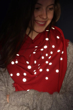 Cloth reflective dots red