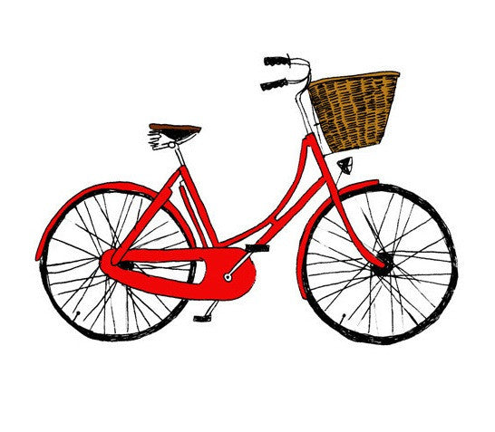 "Tattly - ""Red Bike"" - Allthatiwant"
