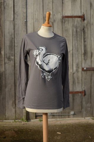 Charcoal Ladies Dodo long sleeve top