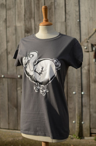 Charcoal Ladies Dodo T shirt