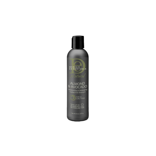 Design Essentials Almond & Avo Moisturizing & Detangling Sulfate-Free Shampoo 237ml