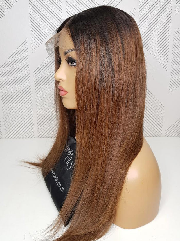 Brazilian Lace wig - 1B/30 Straight 18""