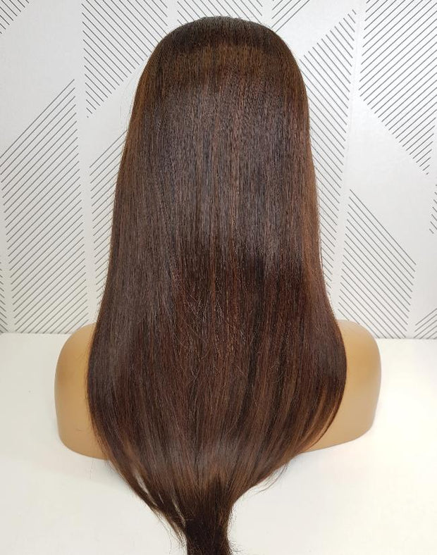 Brazilian Lace wig - 1B/4 Straight 18""