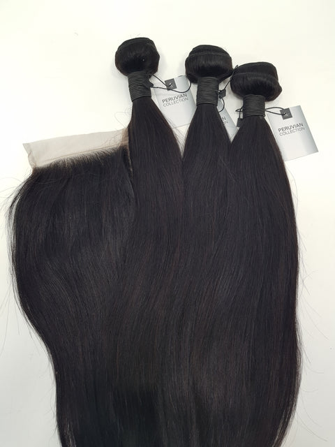 Peruvian Straight - 3 Bundles + Closure
