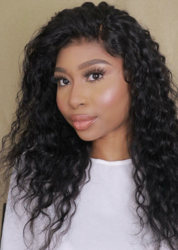 Brazilian Water Wave Lace Front Wig - 18""
