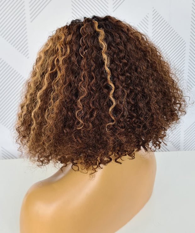 Brazilian T- Part  Water Wave Wig - Willow