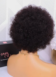 Brazilian Curly Afro full Cap 8""