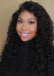 Peruvian HD Lace Front Wig Water Wave 18""