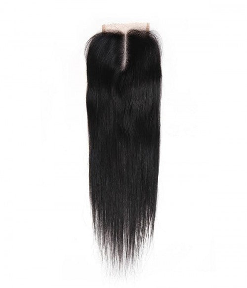 BRAZILIAN 100% REMY HUMAN HAIR MIDDLE PART CLOSURE - STRAIGHT