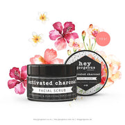 Hey Gorgeous Activated Charcoal  Facial Scrub 200g