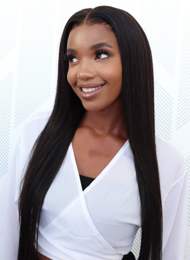 Peruvian HD Lace Front Wig - Straight