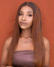 Brazilian 4x4 Lace Wig - Spiced  Orange