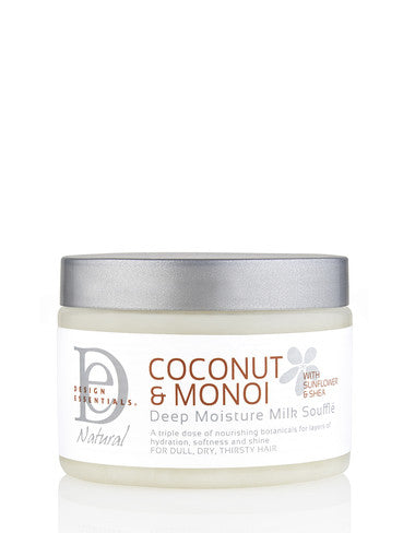 DESIGN ESSENTIALS COCONUT AND MONOI DEEP MOISTURE MILK SOUFFLE 12OZ