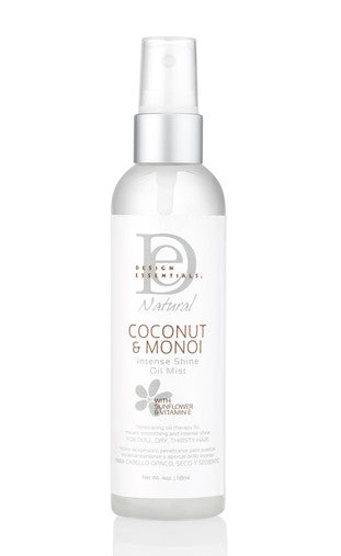 DESIGN ESSENTIALS COCONUT AND MONOI INTENSE SHINE OIL MIST 118ML