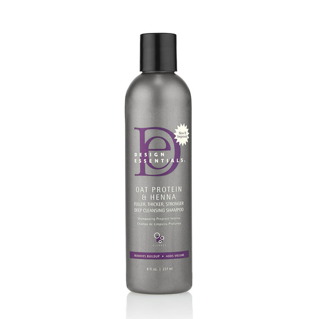 DESIGN ESSENTIALS OAT PROTEIN AND HENNA SHAMPOO 32 oz