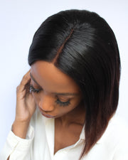Brazilian 4x4 Lace Wig  Straight - 1B Wine - 12""