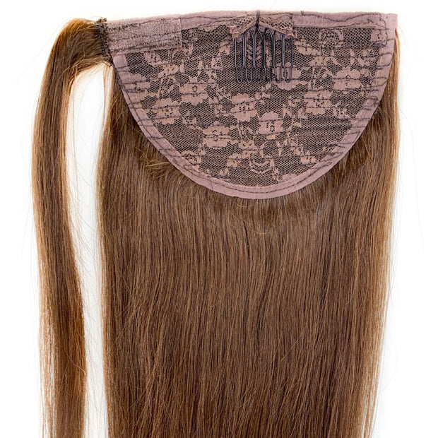 Chocolate Brown Clip In Ponytail - 46cm