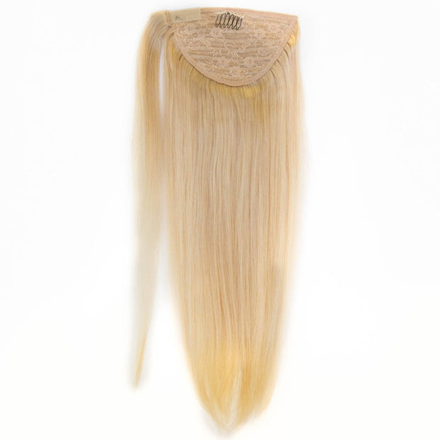 Platinum Blonde Clip In Ponytail - 46cm