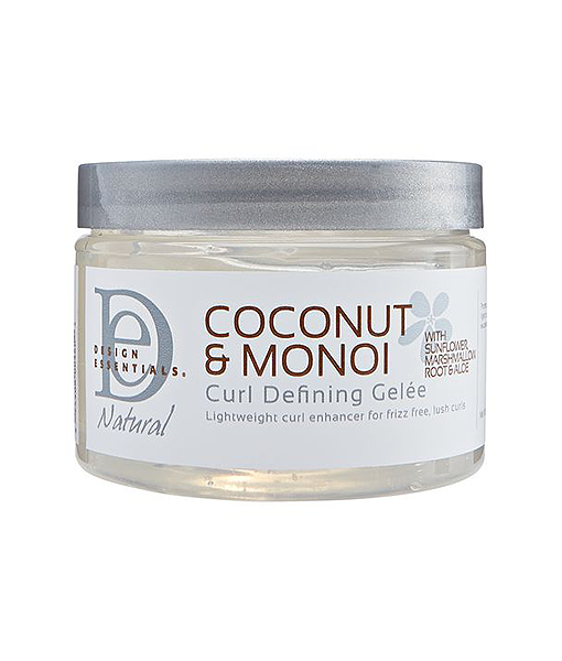DESIGN ESSENTIALS COCONUT AND MONOI CURL DEFINING GELEE 12OZ