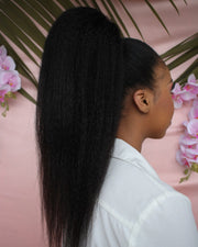 Kinky Straight Clip In Ponytail - 55cm