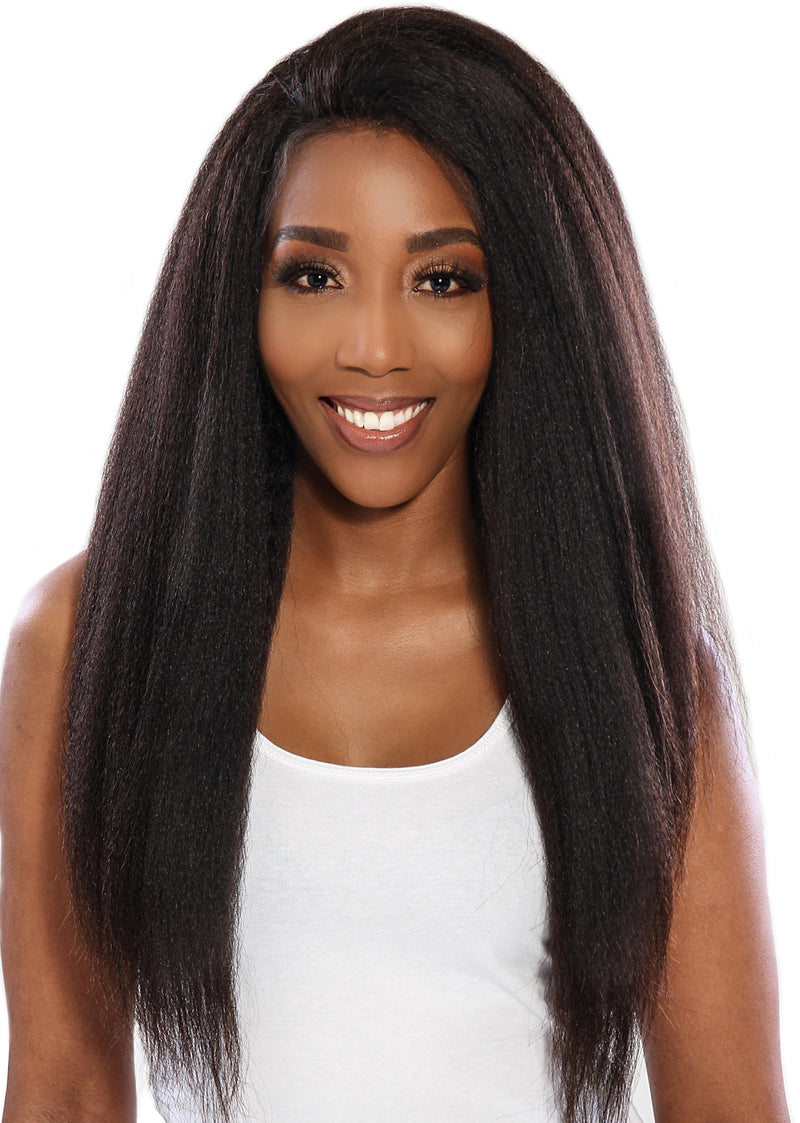 BRAZILIAN LACE FRONT WIG KINKY STRAIGHT