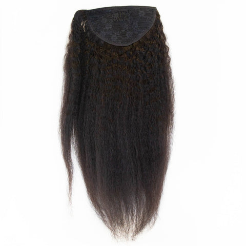 Kinky Straight Clip In Ponytail - 46cm