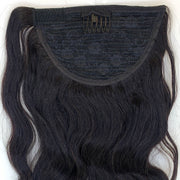 Natural Curl Black Clip In Ponytail - 46cm