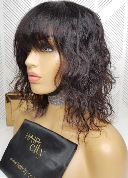 Malaysian Body Wave Lace Wig - Fringe - 10""