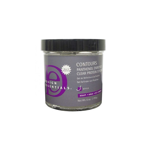 DESIGN ESSENTIALS- CONTOURS-PANTHENOL ENRICHED CLEAR PROTEIN STYLING GEL