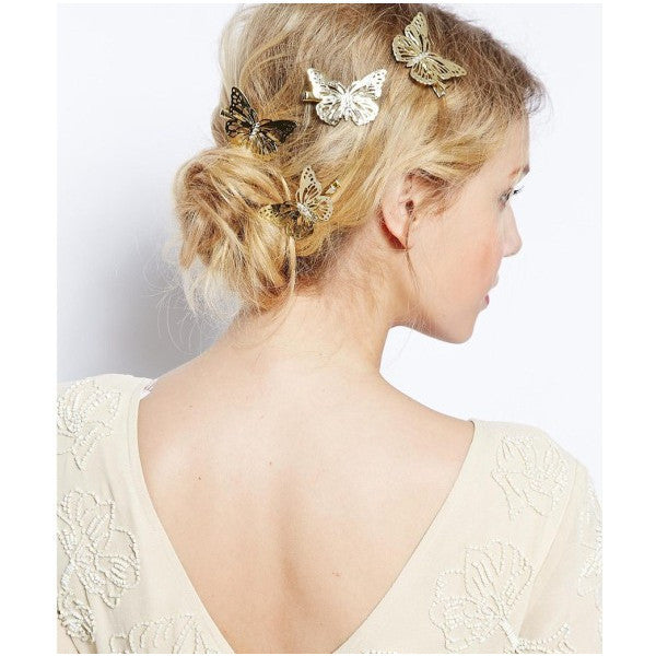 Hair City Butterfly Clips Gold