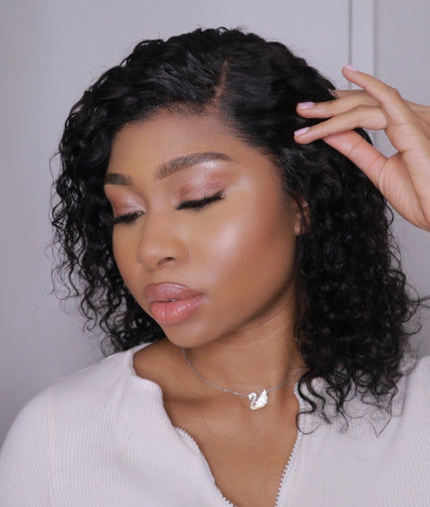 Malaysian Curl Lace Front Wig  - 10""
