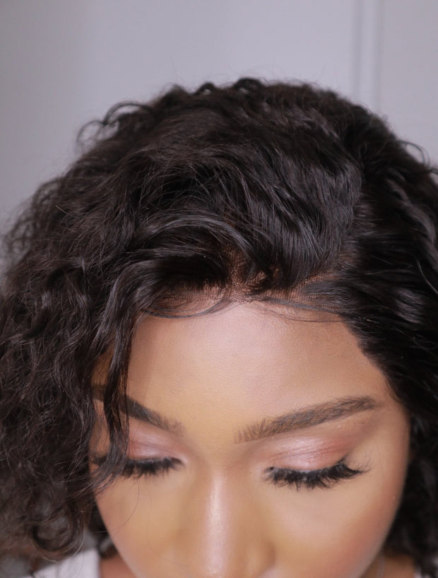 Brazilian Lace Front Wig Water Wave - 12''