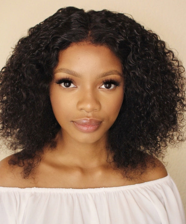 Brazilian Lace Front Wig Jerry Curl 14""