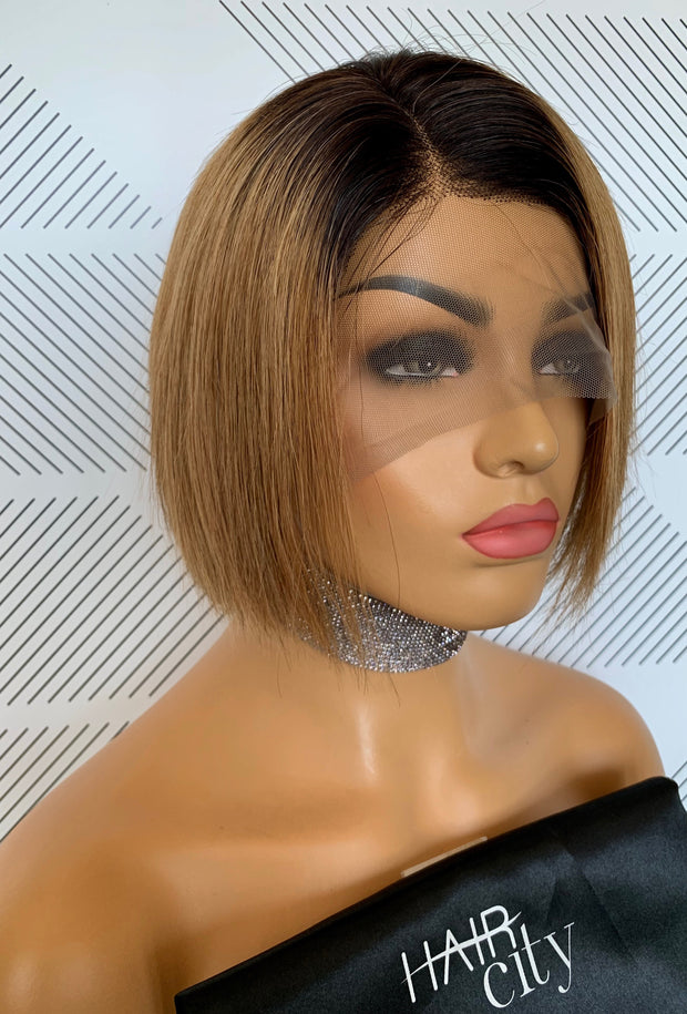 Peruvian Lace front Wig Lux Bella 1B/27