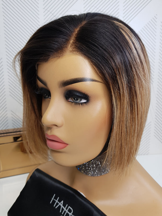 "Brazilian Lace Wig Pixie Bella 8"" - 1B/27"