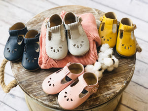 Classic Handmade Leather Baby Shoes T Bars