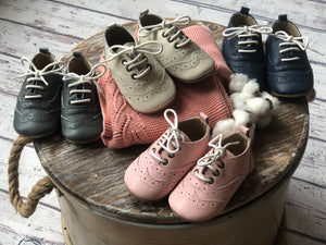 Leather Brogue Children Shoes