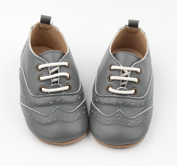 Charlotte Brogues Stormy Grey - Harper & Hedgie