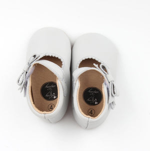 Sweet Mary Janes Dover Grey - Harper & Hedgie