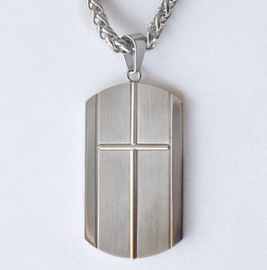 Personalized Cross Dog Tag