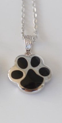 Paw Shaped Memorial Urn Pendant