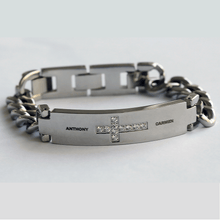 Load image into Gallery viewer, Personalized Cross Bracelet