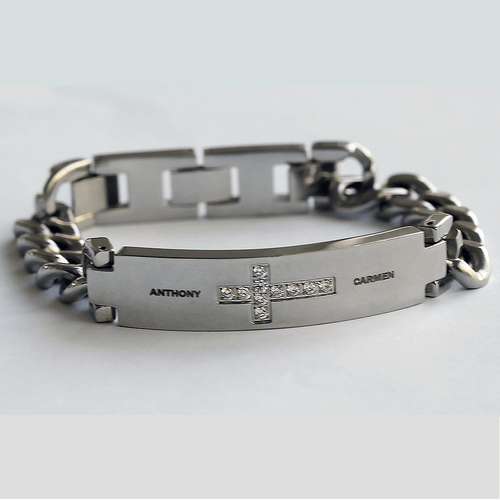 Personalized Cross Bracelet