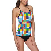 Swimsuit With Retro Print